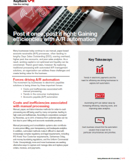 Gaining efficiencies with AR automation