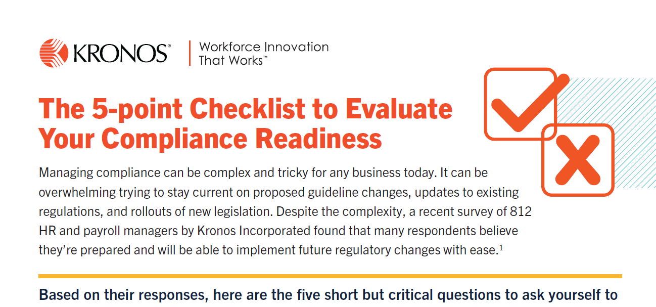 The 5 Point Checklist to Evaluate Your Compliance Readiness coverpage - The 5-Point Checklist to Evaluate Your Compliance Readiness