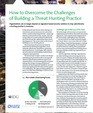 Threat Hunting IDG QuickPulse How to Overcome the Challenges of Building a Threat Hunt Practice cover 190x230 - IDG QuickPulse Report: How to Overcome the Challenges of Building a Threat Hunting Practice