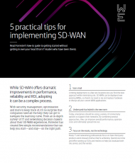 5 Practical Tips Cover 190x230 - 5 practical tips for implementing SD-WAN