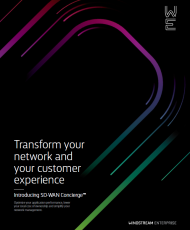 SD WAN Brochure Cover 190x230 - Transform your network and your customer experience