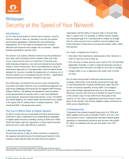 WP Security at Speed cover 260x320 - Security at the Speed of Your Network