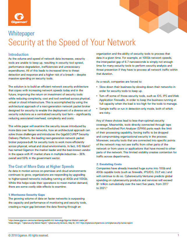 Security at the Speed of Your Network - Paperpicks Leading