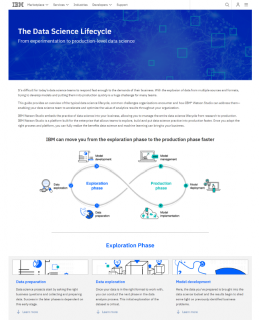 public dhe ibm software data sw library analytics data science lifecycle cover 260x320 - The Data Science Lifecycle