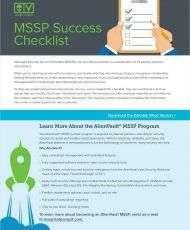 Managed Security Service Provider (MSSP) Success Checklist