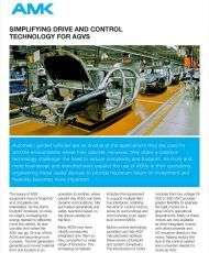 SIMPLIFYING DRIVE AND CONTROL TECHNOLOGY FOR AGVS