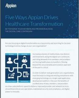 Five Ways Appian Drives Healthcare Payer Transformation