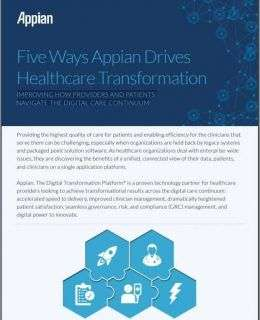 Five Ways Appian Drives Healthcare Provider Transformation