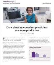 Data shows independent physicians are more productive