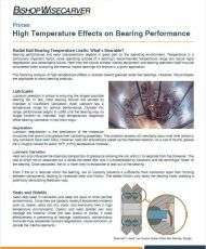 High Temperature Effects on Bearing Performance