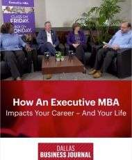How an Executive MBA program impacts your career -- and your life