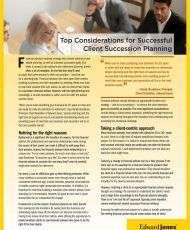 Top Considerations for Successful Client Succession Planning