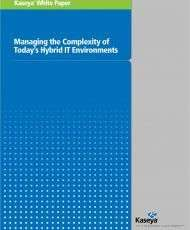 Managing the Complexity of Today's Hybrid IT Environments