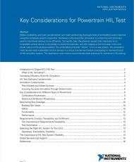 Key Considerations for Powertrain HIL Test