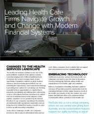 Leading Health Care Firms Navigate Growth and Change with Modern Financial Systems