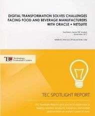 Digital Transformation Solves Challenges Facing Food and Beverage Manufacturers