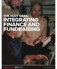 The Holy Grail: Integrating Finance and Fundraising