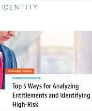 Top 5 Ways for Analyzing Entitlements and Identifying High-Risk