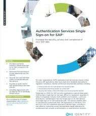 Authentication Services Single Sign-on for SAP