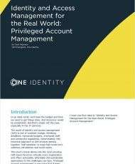 IAM for the Real World: Privileged Account Management