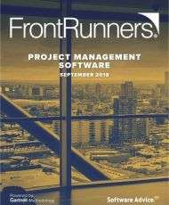 Top Rated FrontRunners for 2019 Project Management Software