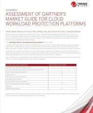 Assessment of Gartner's Market Guide for Cloud Workload Protection Platforms