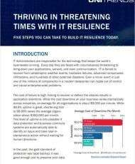 Thriving in Threatening Times with IT Resilience