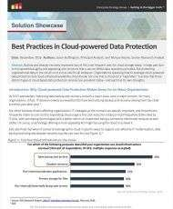 Best Practices in Cloud-powered Data Protection