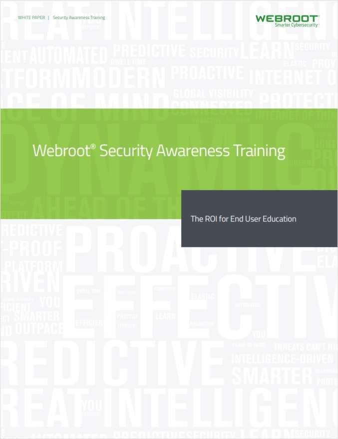Webroot Security Awareness Training: The ROI for End User
