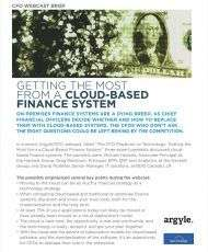 The CFO Playbook on Technology: Getting the Most from a Cloud-Based Finance System Webinar