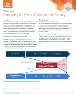 wp harnessing the power of metadata for security cover 260x320 - Harnessing the Power of Metadata