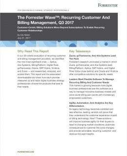 The Forrester Wave™: Recurring Customer And Billing Management, Q3 2017