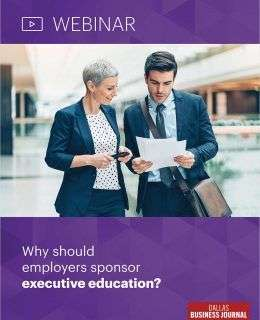 Why should employers sponsor executive education?