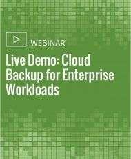 Live Demo: Cloud Backup for Enterprise Workloads