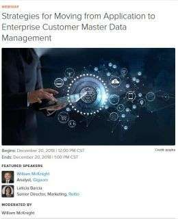 Strategies for Moving from Application to Enterprise Customer Master Data Management