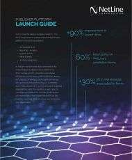 NetLine Publisher Platform Launch Guide