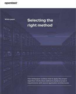 Selecting the Right InfoArchive Method