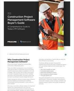 Construction Project Management Software Buyer's Guide