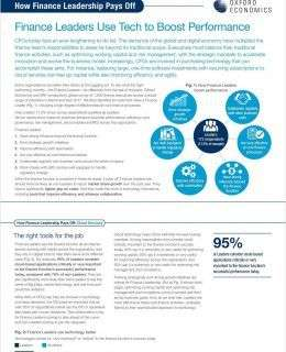 Finance Leaders Use Tech to Boost Performance