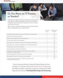 Do You Have an IT Vendor or a Partner?