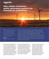 Why reliable temporary power generation systems are essential for wind farms