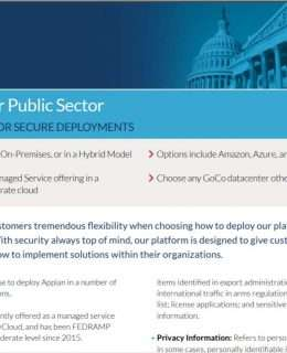 Appian for Public Sector: Flexibility for Secure Deployments