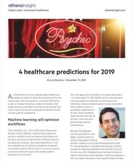 4 healthcare predictions for 2019