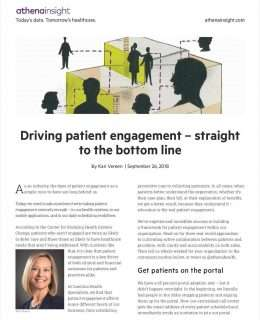 Driving patient engagement -- straight to the bottom line