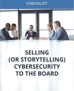 Selling (or Storytelling) Cybersecurity to the Board