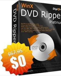 WinX DVD Ripper Platinum V8.9.0 ($67.95 Value) Free for a Limited Time