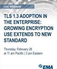 Live Webinar: TLS 1.3 Adoption in the Enterprise