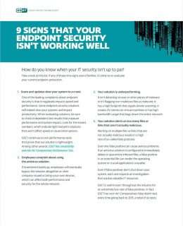 9 Signs that Your Endpoint Security Isn't Working Well