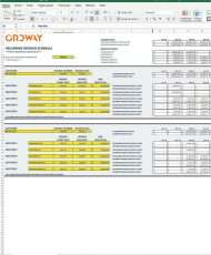 Excel Template - Recurring Revenue Schedule