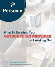 What To Do When Your Outsourcing Provider Isn't Working Out